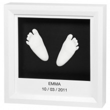 Amprenta mulaj bebe manuta sau piciorus Windows Sculpture Frame Baby Art