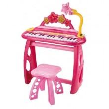 Orga electronica cu microfon si scaun Pink Bontempi