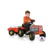 INJUSA Tractor electric copii cu remorca 6V