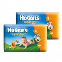 Scutece HUGGIES SuperDry Nr 3 (5-9kg) 116 buc