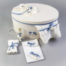 Trusou botez complet dantela bleu Nikos Collection