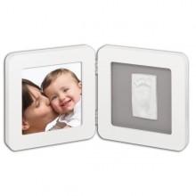 Rama foto amprenta Print frame Baby Art alb-gri 17x17 cm