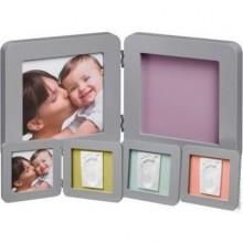 Rama foto amprenta Print frame Baby Art Grey Babyroom 17x17 cm