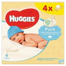 Servetele umede copii Huggies Pure fara parfum 4x56 buc