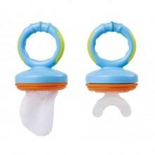 Set 2 in 1 Dispozitiv de hranire si suzeta dentitie Kiokids