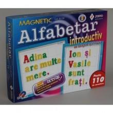 Joc alfabetar magnetic introductiv 110 piese cu 50 imagini ajutatoare Juno