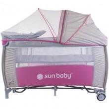 Patut Pliabil cu 2 nivele cu Sistem de Leganare Sweet Dreams - Sun Baby
