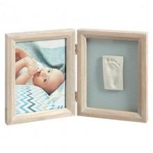 Rama foto kit amprenta 2D Print Frame Baby Art White Stormy