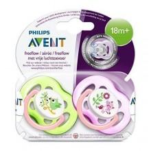 Suzete fetite cu flux liber Philips Avent Free Flow +18 luni 2 buc