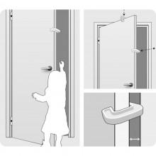 Opritor pentru usa transparent Reer 2 buc 70030