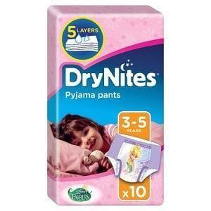 Huggies DryNites Chiloti absorbanti de unica folosinta pentru noapte fete 3 -5 ani