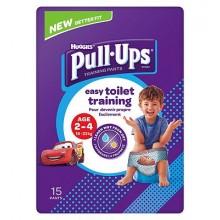 Chilotei pentru antrenament la olita baietei Huggies Pull Ups (18-23 Kg) 15buc
