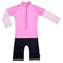 Costum de baie Pink Ocean marime 98- 104 protectie UV Swimpy