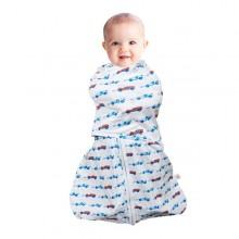 Sistem de infasare pentru bebelusi 3 in 1 blue 3-6 luni Clevamama