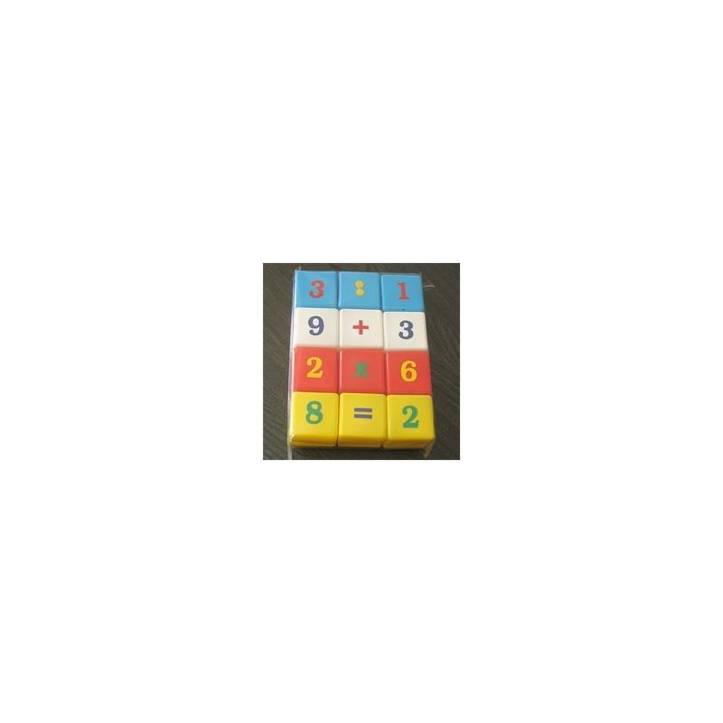 Joc cuburi cu cifre 12 piese JUNO