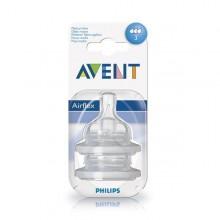 Tetina anticolici Philips Avent Clasic Airflex 3 orificii 2buc +3 luni