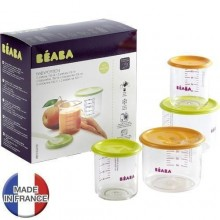 BEABA Set 4 recipiente ermetice hrana 2x150 ml 2x300 ml