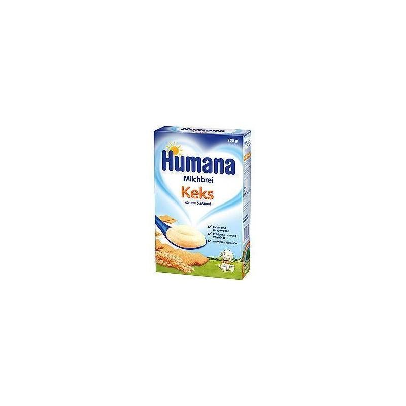 Humana  Cereale cu lapte si biscuti 250g