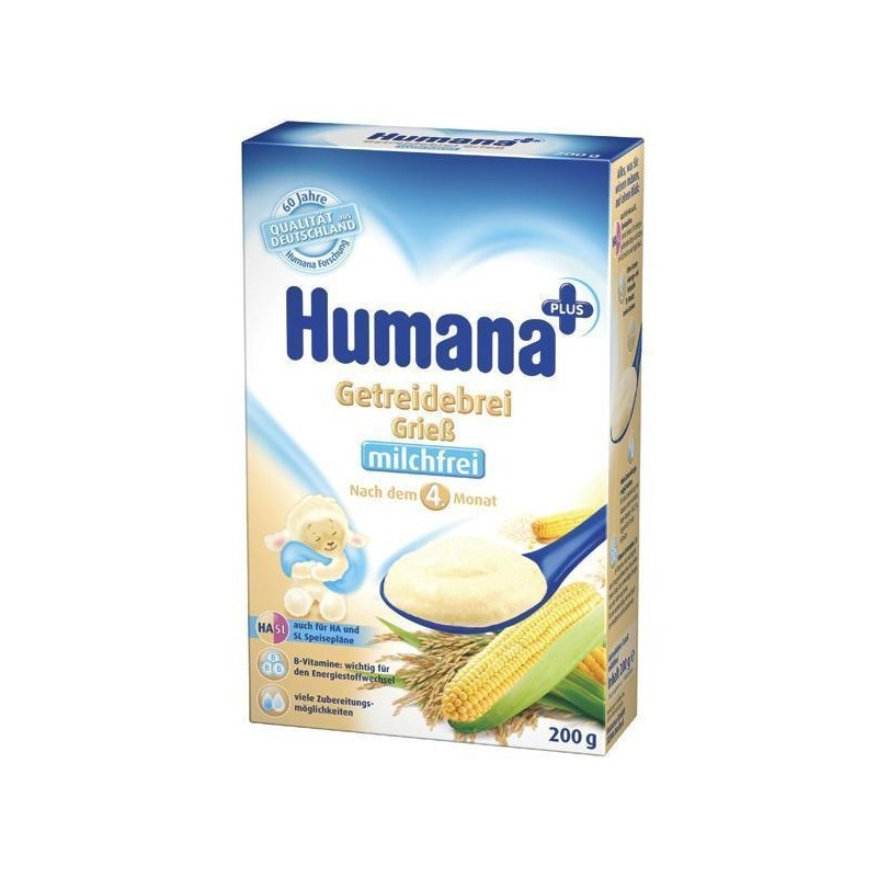 Humana Cereale Gris Fara Lapte 200gr