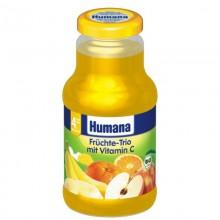 Humana Nectar Trio de fructe cu vitamina C 200ml