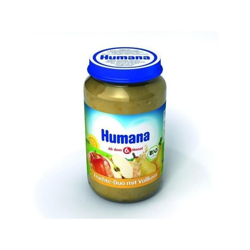 Humana Piure de fructe si cereale 190 gr