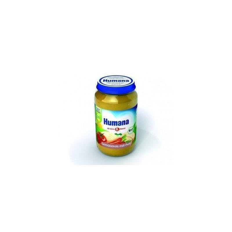 Humana Piure de legume orez curcan 190gr