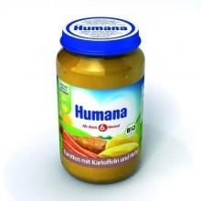Humana Piure din cartofi morcovi pui 190 gr