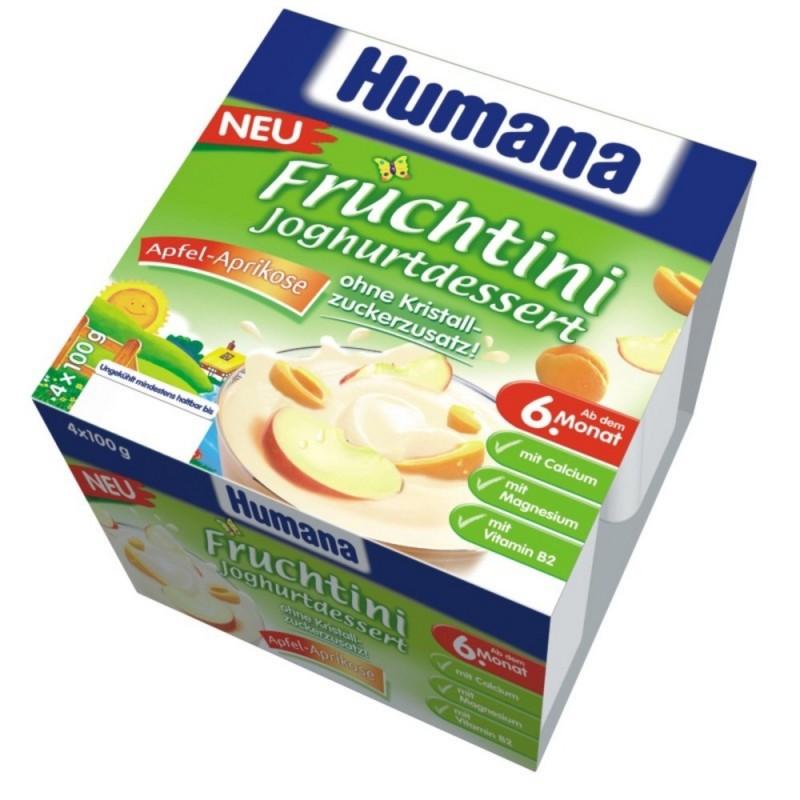 Humana Desert iaurt mere si caise 4x100g