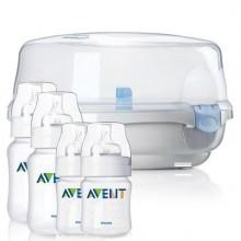 Sterilizator AVENT microunde + 4 biberoane