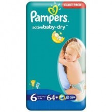 Scutece Pampers Active Baby Extra Large Nr 6 64buc