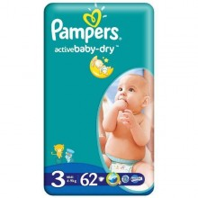 Scutece Pampers Active Baby Midi Nr 3 62 buc