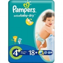 Scutece Active Baby  Maxi Plus Pampers Nr 4+ 18buc