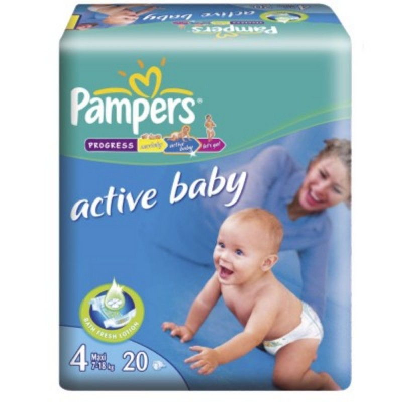 Scutece Active Baby Maxi Pampers Nr4 20buc