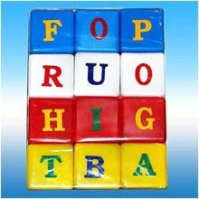 Joc cuburi cu litere 12 piese JUNO