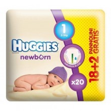 Scutece HUGGIES Newborn Nr 1 20buc (2-5kg)