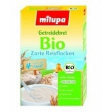 Cereale Bio Fulgi de orez, fara lapte, 250g MILUPA