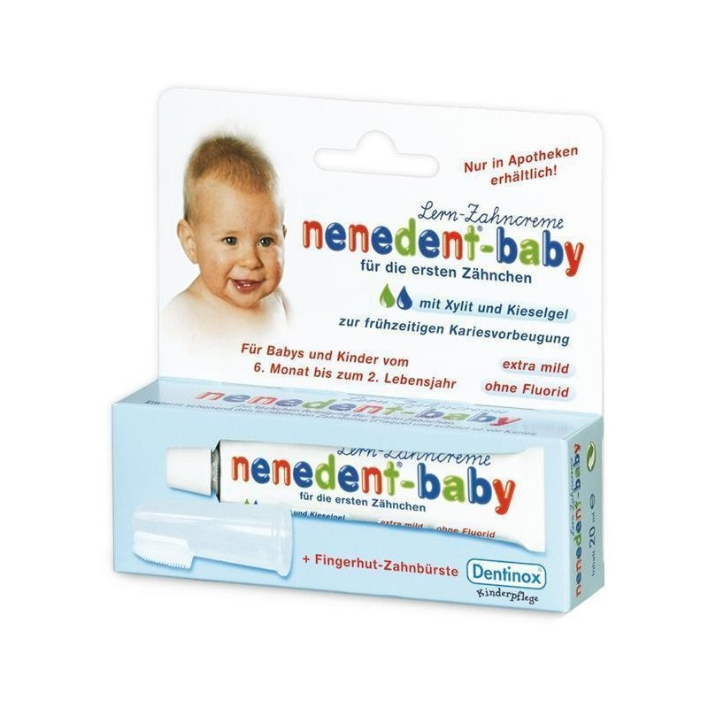 Pasta de dinti cu periuta bebelusi Nenedent Dentinox