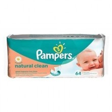 Pampers Servetele Natural Clean 64buc