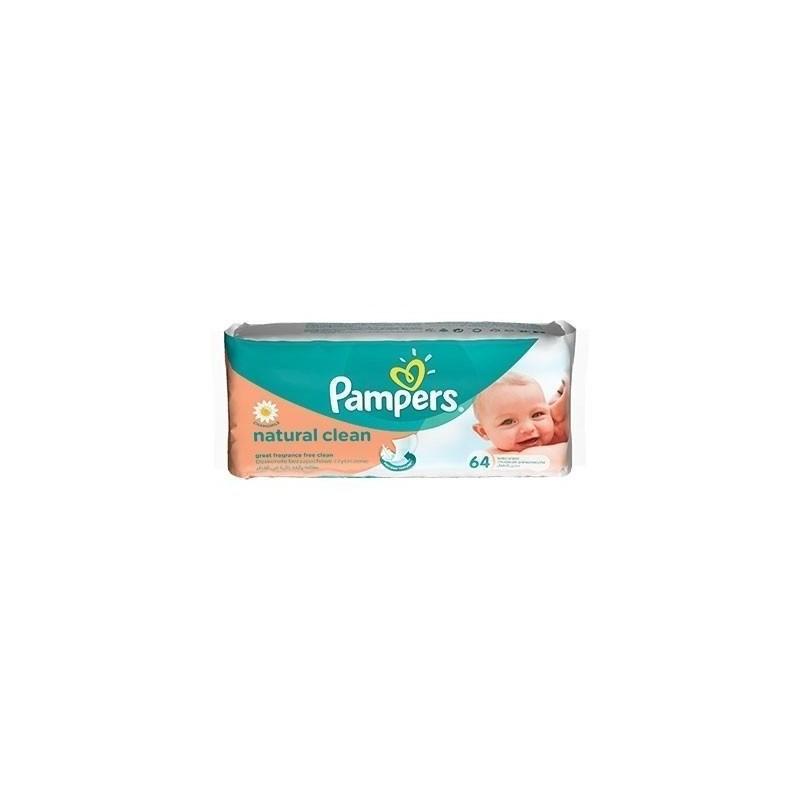 Pampers Servetele Natural Clean 64buc