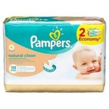 Pampers servetele Natural Clean 2x64buc rezerva