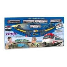 Tren pasageri electric cu diorama Pequetren