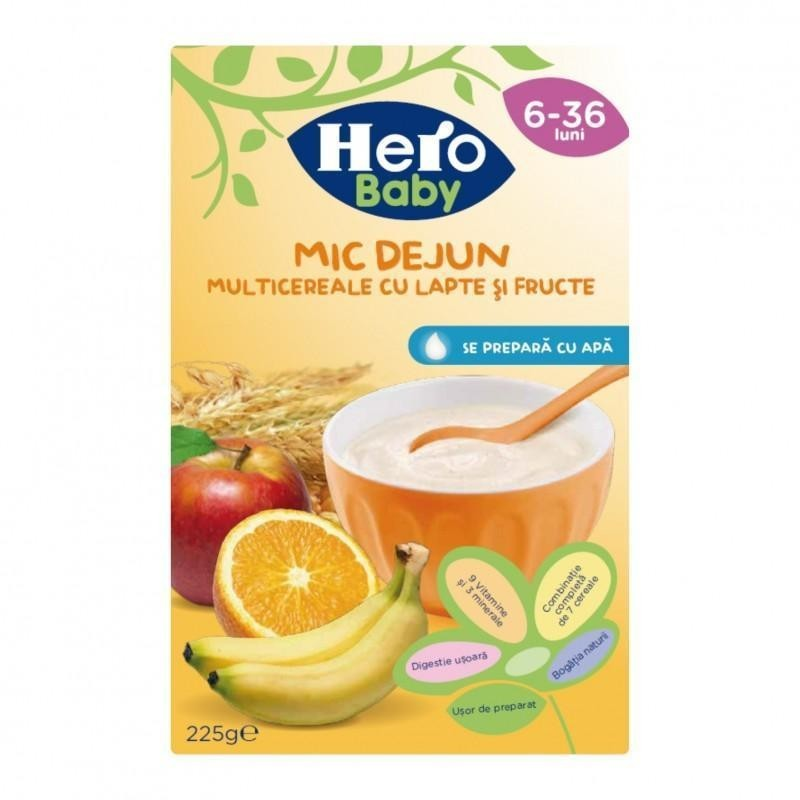 Hero Mic Dejun multicereale cu lapte si fructe