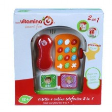 Cabina telefonica muzicala 2 in 1 Vitamina G