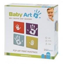 Baby Art Set 4 rame panza pentru amprente Pop Art