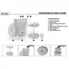 Sterilizator biberoane electric cu aburi Laica BC1005