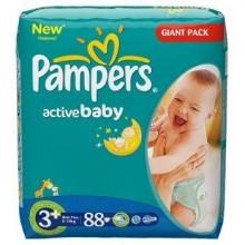 Scutece Active Baby Midi Pampers Nr 3+ 88buc