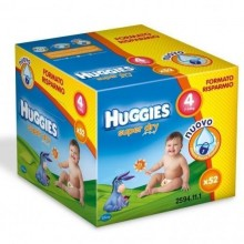 Scutece HUGGIES SuperDry Nr 4 (7-14kg) 52 buc