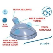 Chicco Tetina anticolici STEP UP 1 flux normal
