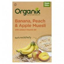 ORGANIX Cereale ECO muesli, banane, piersica, mar
