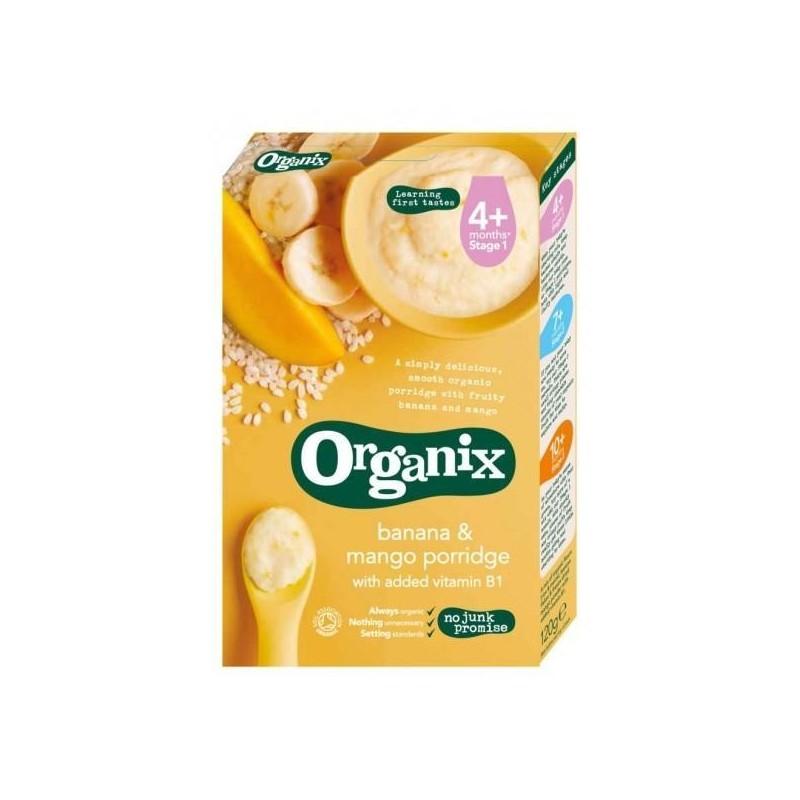 ORGANIX Cereale Eco orez porumb banane mango